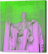 Lincoln In Green Canvas Print