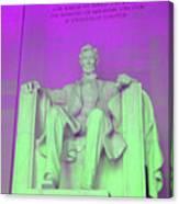 Lincoln In Purple Canvas Print
