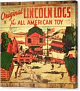 Lincoln Logs Retro Canvas Print