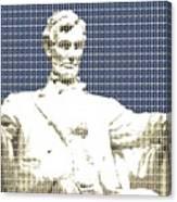 Lincoln Memorial - Dark Blue Canvas Print