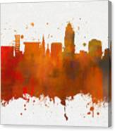 Lincoln Nebraska Colorful Skyline Canvas Print