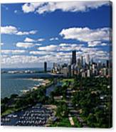 Lincoln Park And Diversey Harbor Canvas Print