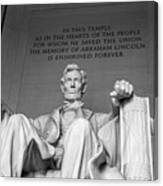 Lincoln Statue Canvas Print