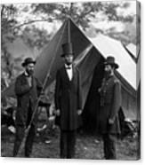 Lincoln With Allan Pinkerton - Battle Of Antietam - 1862 Canvas Print