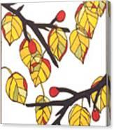 Linden Leaves Canvas Print