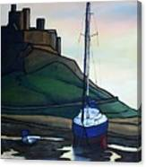 Lindisfarne At Low Tide. Canvas Print