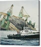 Lindsey Foss Barge Assist Canvas Print