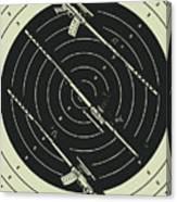 Line Art Rifle Range Canvas Print