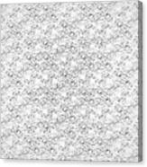 Linear Bulbs Pattern Whitesilver Black Canvas Print