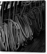 Lines Bw Canvas Print