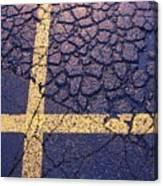 Lines On Asphalt I Canvas Print