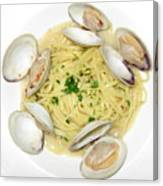 Linguine With Clams Canvas Print