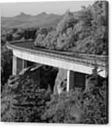 Linn Cove Viaduct Black And White Canvas Print