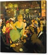 L'interieur De Chez Bruant. Le Mirliton Canvas Print