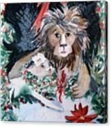 Lion And Lamb Canvas Print