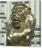 Lion At Mgm Canvas Print