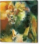 Charging Lion  Canvas Print