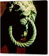 Lion Door Knocker In Venice Canvas Print
