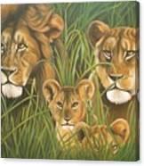 Lion Family Canvas Print