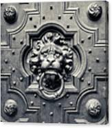 Lion Head Door Knocker Canvas Print