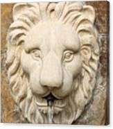 Lion Head Fountain Canvas Print