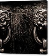 Lion Head Handle Canvas Print