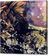 Lion Love Canvas Print