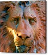 Lion Of Saint Augustine Canvas Print