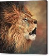 Lion Roar Profile Canvas Print