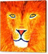 Lion Selfie Color Pop Canvas Print