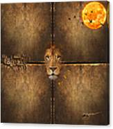 Lion Sun Canvas Print