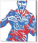 Lionel Messi F C Barcelona Argentina Pixel Art 5 Canvas Print