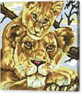 Lioness And Son Canvas Print