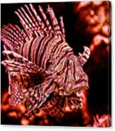 Lionfish Of The Sea Canvas Print