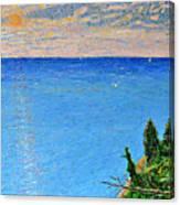 Lions Den Lake Michigan Canvas Print