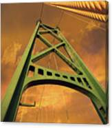Lions Gate Bridge Tower Canvas Print