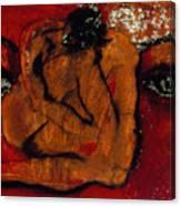 Lipstick Portrait Canvas Print