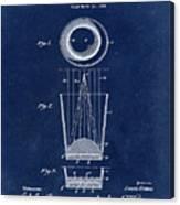 Liquershot Glass Patent 1925 Blue Canvas Print