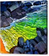 Liquid Abstract Eleven Canvas Print