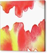 Liquid Fire Watercolor Abstract II Canvas Print