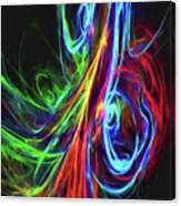 Liquid Neon Canvas Print