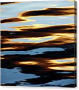Liquid Setting Sun Canvas Print