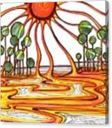 Liquid Star Canvas Print