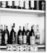 Liquor Bottles Canvas Print