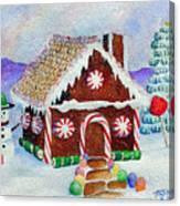 Lisa's Gingerbread House Canvas Print