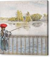Lisbeth Angling. From A Home By Carl Larsson Canvas Print