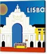 Lisboa Lisbon Portugal Horizontal Scene Canvas Print