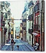 Lisboa Tram Route Canvas Print