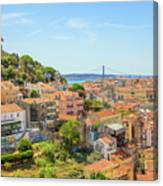 Lisbon Aerial View Canvas Print