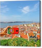 Lisbon Pictures Aerial Canvas Print